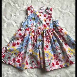 H & M floral and butterfly dress